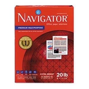 Navigator Premium Multipurpose Copy Paper - Premium Multipurpose Paper, 97 Brightness, 20lb, 8-1/2x11, White, 5000/Carton