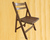 OH furntiure Outdoor Garden natural beech wood slat folding chairs