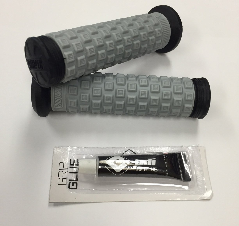Non-Flanged//Black//Grey//Black Pro Taper Pillow Top ATV Grips