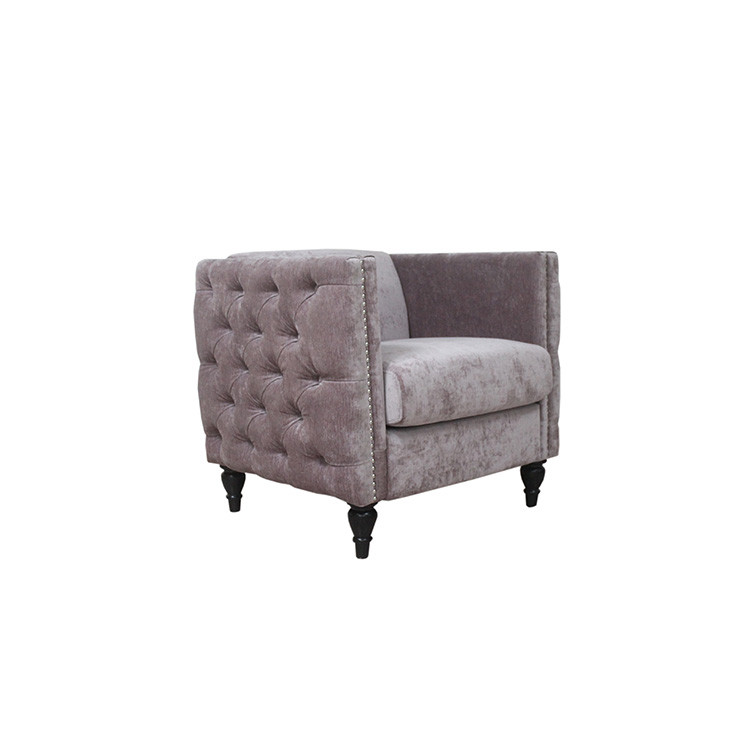 Hot sell high quality living room furniture pink velvet chair/ Sofa chair
