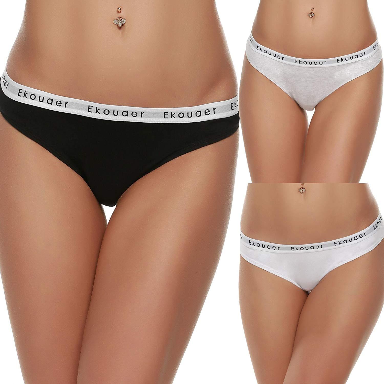Get Quotations · Amashion Women Sexy Cotton Thongs Underwear Panties Women  Cotton Panties Bottoms c5c846a49