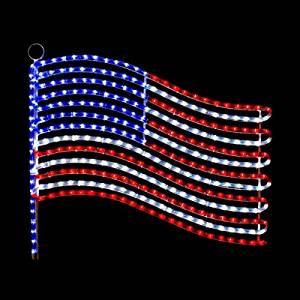 USA Flag LED Rope Light Motif