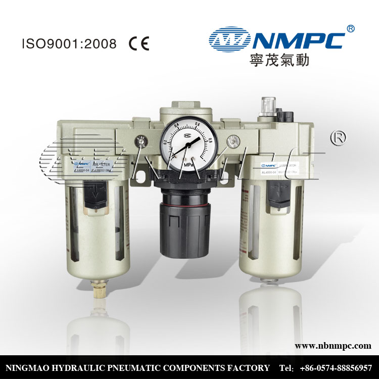 Low Cost Pneumatic Air Source Treatment Unit AC Series AC3000  F.R.L Combination Filter Regulator Lubricator