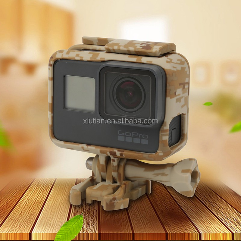 Wholesale for GoPro Hero 7 6 5 Camouflage Frame Standard Housing Case Gray/Green/Brown