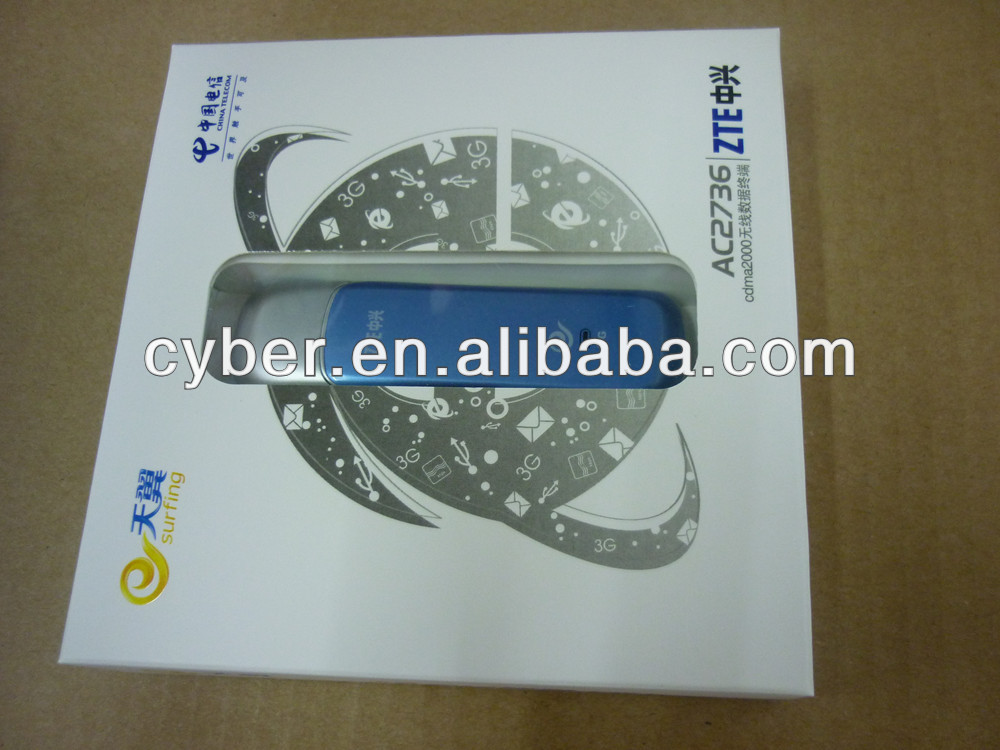 100% origina unlocked ZTE ac2736 3g wireless modem