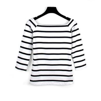 Wholesale Striped T Shirts Cotton High Quality 180 Gram