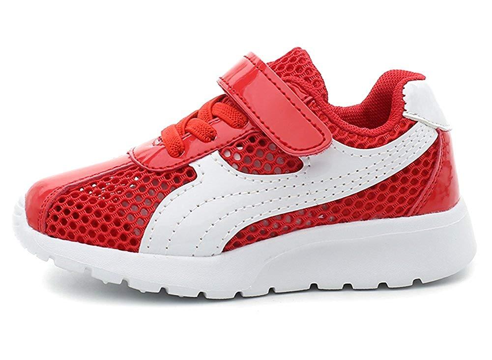 iDuoDuo Kids Metallic Trainers Breathable Mesh Light Sport Running Shoes (Toddler/Little Kid/Big Kid)