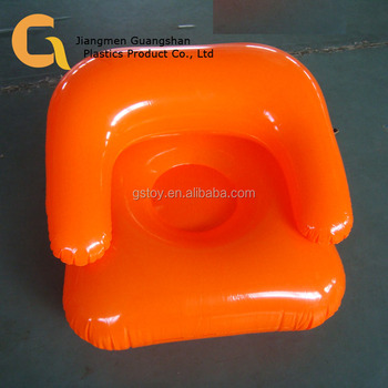 Portable Orange Home Plastic Inflatable Sofa Couch For Kids