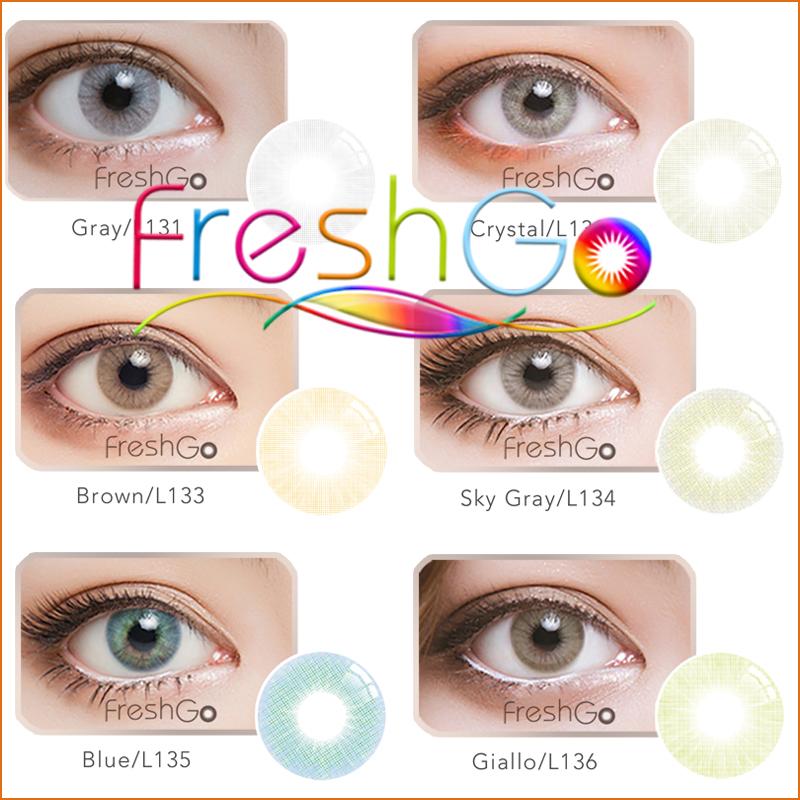 fb36b2de89 Barato al por mayor fresco de color lentes de contacto color coreano  círculo lentes para ojos