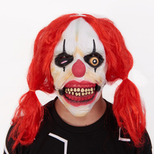 Rubber Latex <span class=keywords><strong>Horror</strong></span> Enge Clown <span class=keywords><strong>Masker</strong></span> Met Rood Haar DL2420