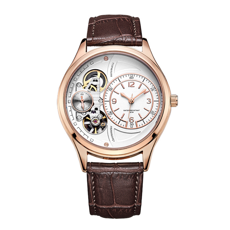 China factory wholesale your own brand skeleton automatic men's watch, Colors