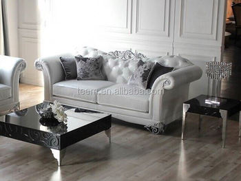 Luxury Villa Living Room Sofa Leather Set Designs India
