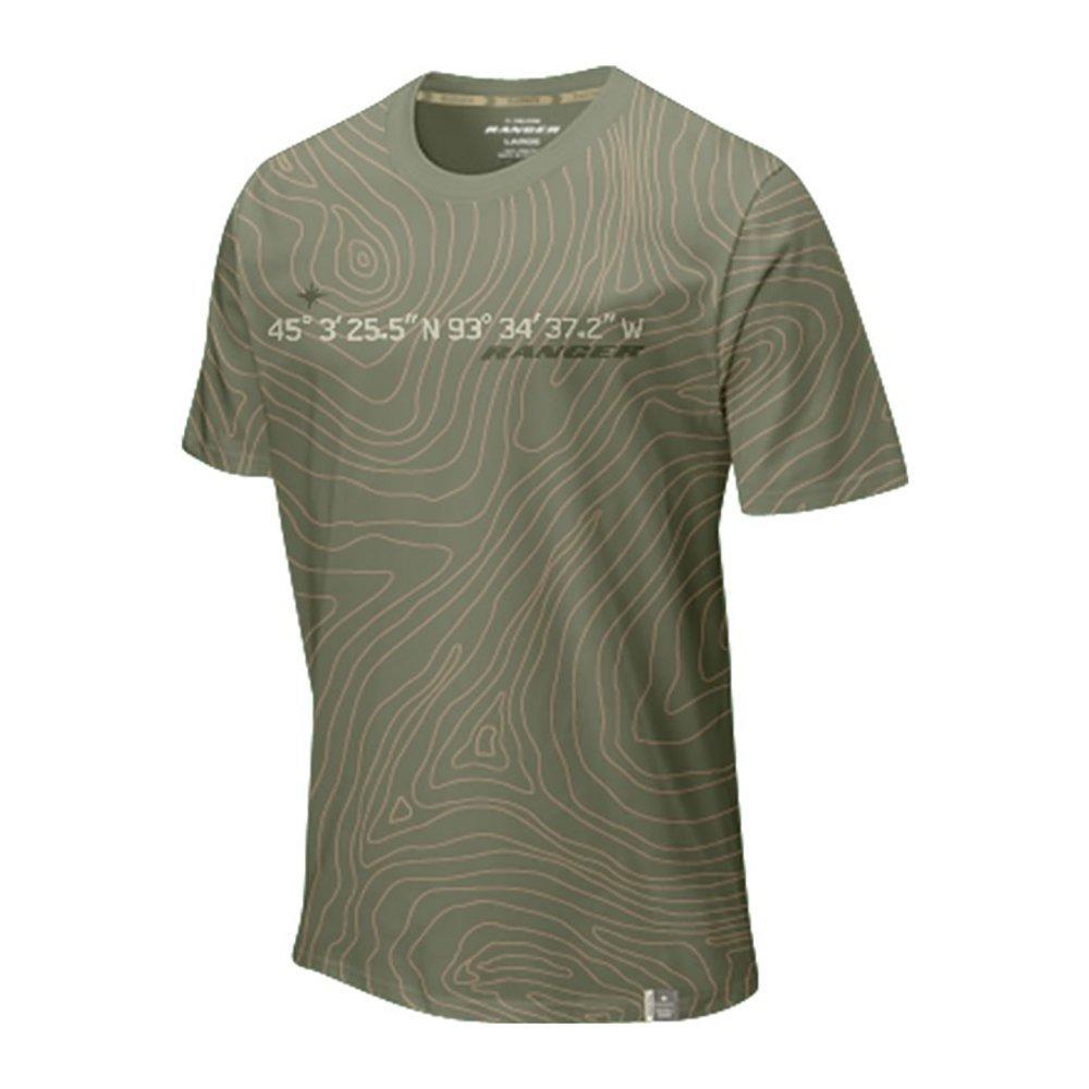 9c0faff3 Get Quotations · Polaris Mens Olive Green Medina Topography Short Sleeve T- Shirt