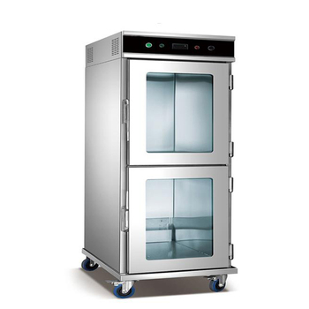 Commercial 15 Layers 2-Door Mobile Food Warmer Cart with Show Window