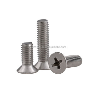 countersunk cross recessed machine screw with low price