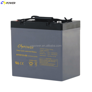 Sealed lead-acid 12v 55ah agm solar deep cycle battery price