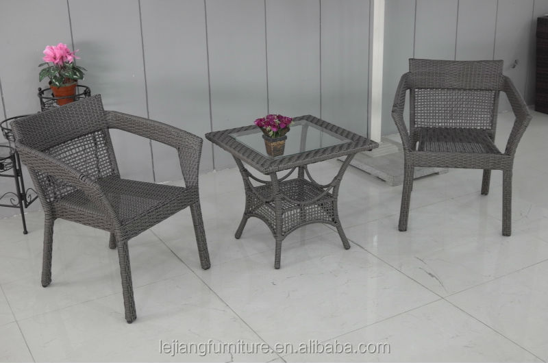 rattan/wicker outdoor furniture small leisure table with chairs garden furniture