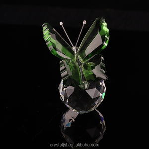 Nice crystal glass butterfly figurine as crystal butterfly dildo gift items