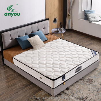 Wholesale Bedroom Furniture  Foam 5 zone pocket coil Spring  Hotel Mattress