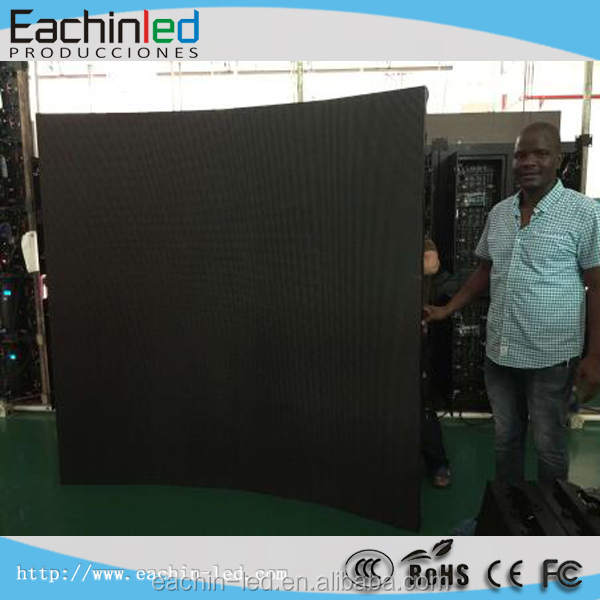 p6 flexible led video wall 6.25mm led wall panel p4.8 ecran led dj pantallas gigantes led