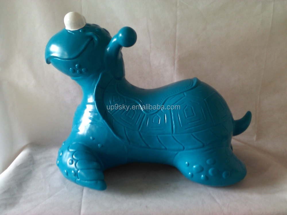 Inflatable large green turtles, jumping animal toys