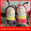 High quality cute soft bee plush toy animal plush bumble bee