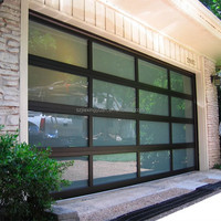 Sectional Aluminum Glass Garage Door Panels Sale