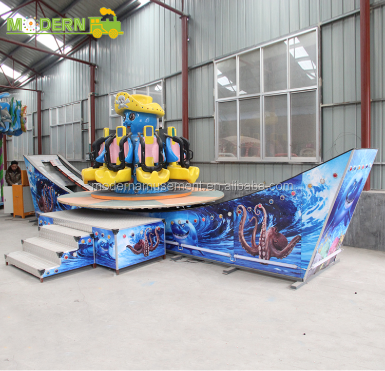 Modern newest theme park flying car 6.5km/h sliding speed kids rides
