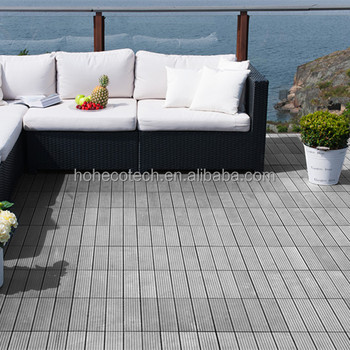 Outdoor Weather Proof Wpc Diy Tile For Balcony Flooring