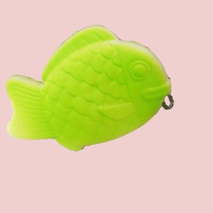 Hot selling gift colorful fish squeeze soft slow rising squishies toy with keychain