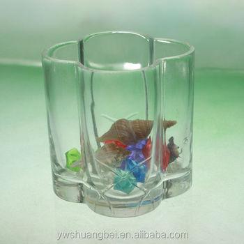 Flower Shaped Glass Vase Short Clear Glass Vase Clear Reversible