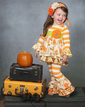 ingrosso 2015 bambine vestiti halloween zucca halloween set floreale set <span class=keywords><strong>boutique</strong></span> caduta abiti