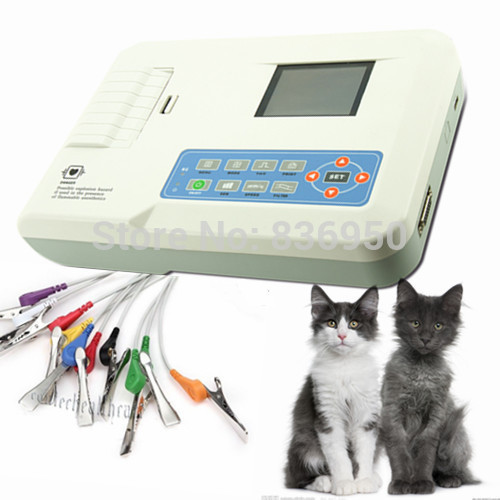 Contec Veterinary ECG300G 3-Channel 12-Lead Hand-held Digital ECG Machine for VET, Animals ECG EKG Machine