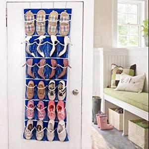 Underbed Storage Shoe Containers Over Door Hanging Organiser 4 Racks Multi Function