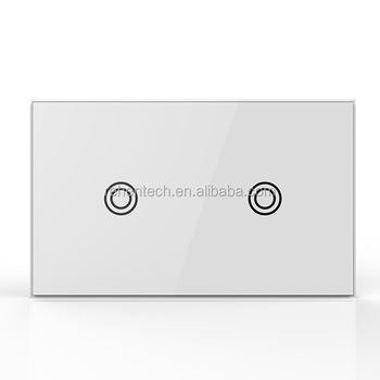 Z-wave Plus 2 Way Led Touch Light Switch Wireless Remote Control ...