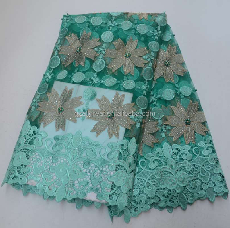AG6896 New Arrival French net Lace With stones 5 yardsTulle African Lace Fabrics