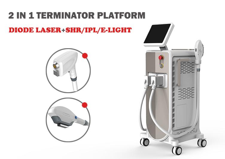 Ontharing Schoonheid Apparatuur 808nm Diode Laser en IPL SHR