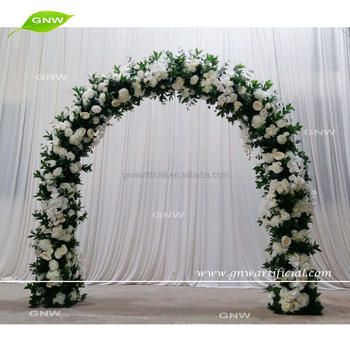 Gnw Flwa171101 Artificial Flower Arch White And Greenery Flowers