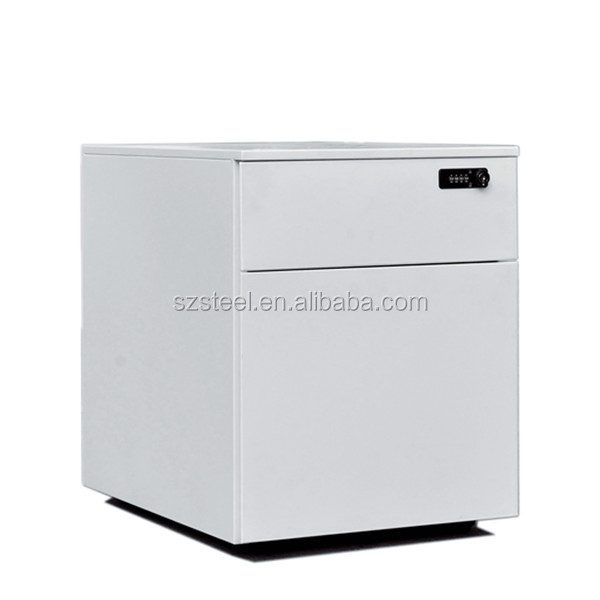 Mobile combination lock steel drawer cabinet movable marine pedestal for wedding decorations
