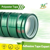 Heat resistant insulation green polyester easy peel off pet tape