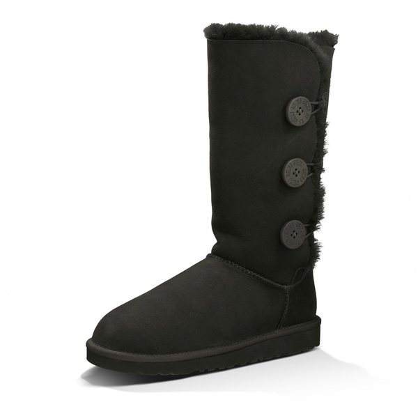 Hot selling black outdoor knee furry winter snow <strong>boot</strong> for woman