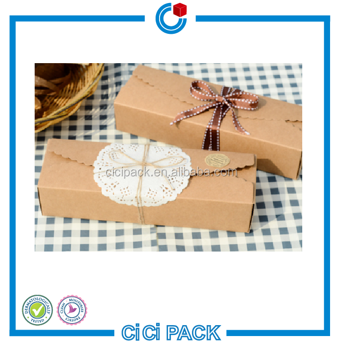 wholesale new arrival 350gsm kraft paper custom cake dessert packing box