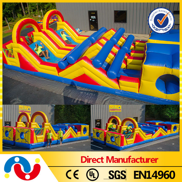 2016 new design commercial adult inflatable water obstacle course and paintball obstacles for rental