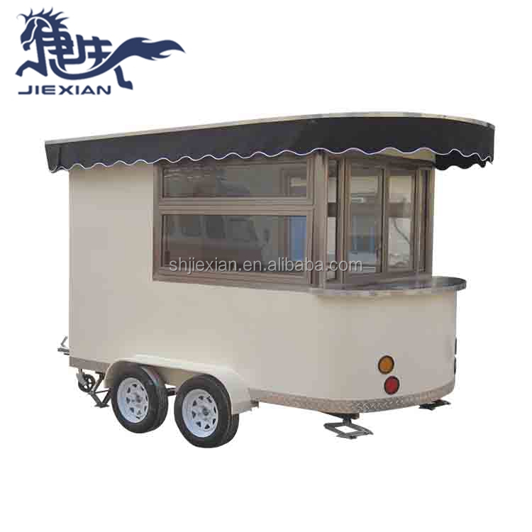 Popular mobile food coffee cart mobile kiosk with wheels