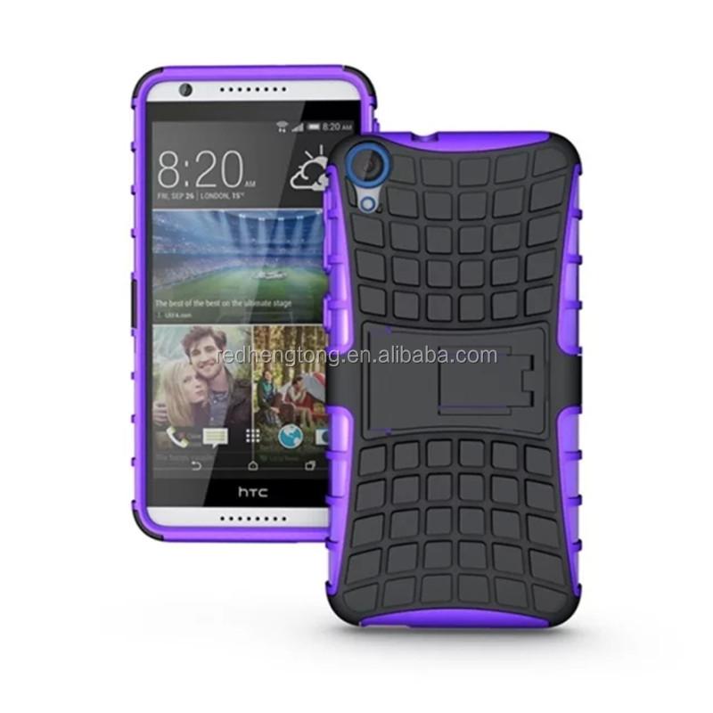 2a1c93f4180 Caja del teléfono TPU y PC kickstand caso híbrido impacto armadura  contraportada para HTC Desire 820