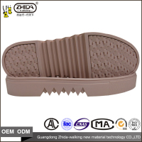 Wholesale Size 35- 39 ladies Shoes Rubber material casual women sole for shoe making