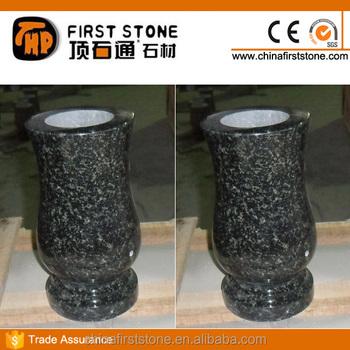 Gmv 011 Black Stone Vases For Graves Buy Vases For Gravescemetery