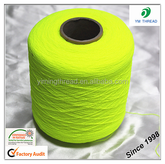 High Elastic 100% Polyester Latex Rubber Thread