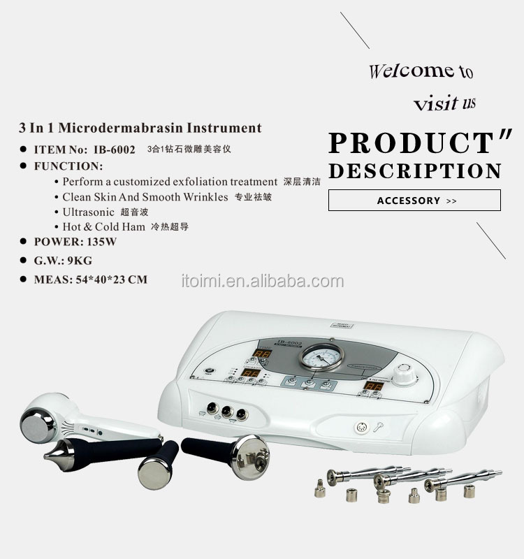 3 in 1 diamond microdermabrasion peel machine facial care facial cleaning factory wholesale
