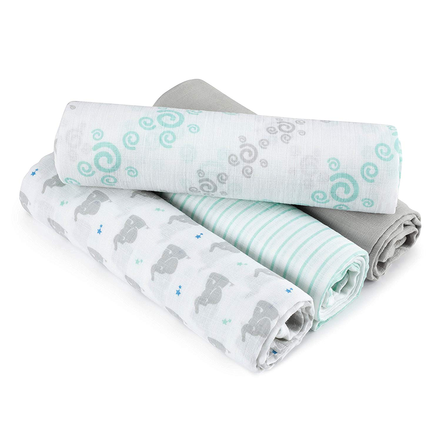 Gauze fabric 100% organic cotton muslin wrap muslin baby swaddle blanket